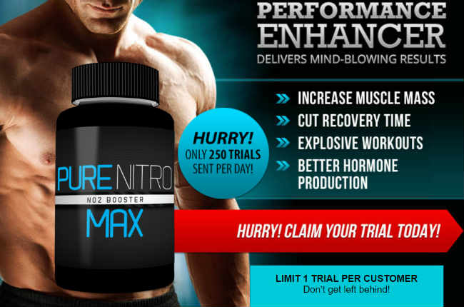 PURE NITRO MAX - Testosterone Muscle Gains Workout Booster?